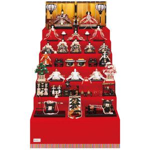 雛祭りA代表フルメンバー七段飾り