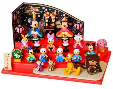 ディズニーキャラクターが勢ぞろい!ミッキーとミニーの雛人形