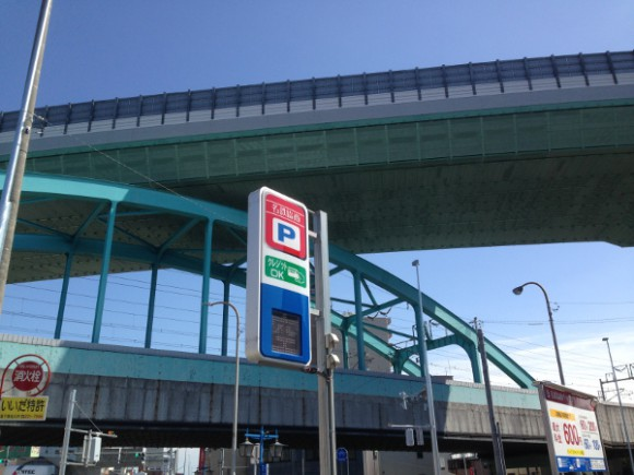 新幹線の上を名古屋高速
