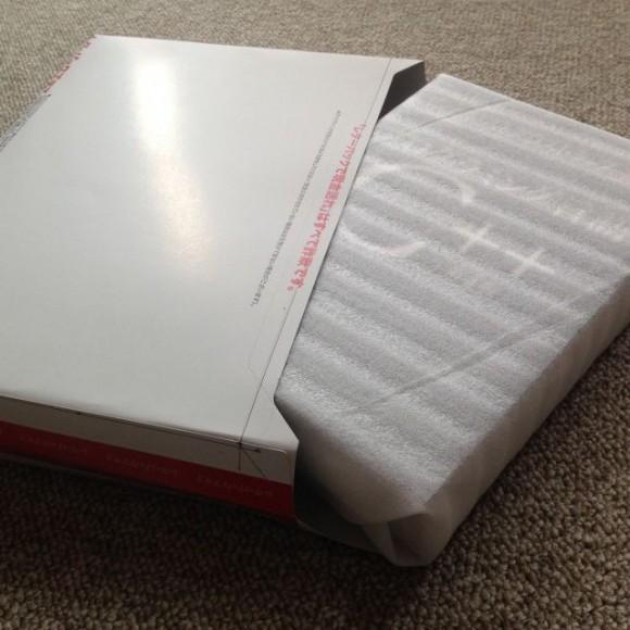 レターパックを立体成形して分厚い本を入れる