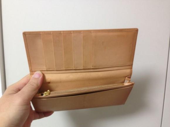 ココマイスター長財布をクリームで手入れしてみた