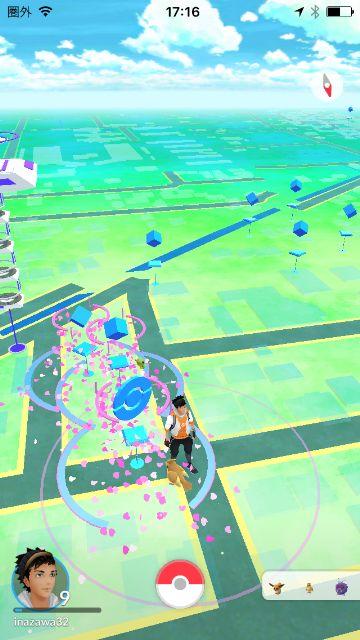 ポケモンGOのポケストップが3か所集まっている稲沢市のスポット