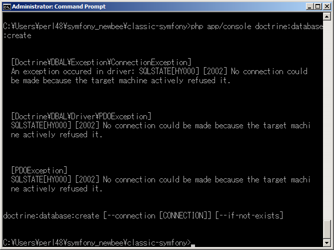 sqlstate hy000 2002 no connection could be made because the target machine actively refused it