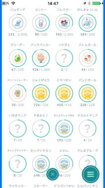 【ポケモンGO】プレイ開始2か月後のステータス