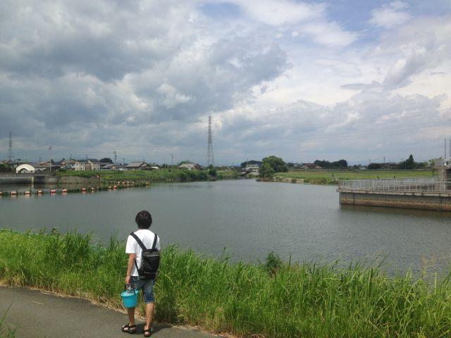 稲沢市でブラックバスが釣れる!広口池にフナ釣りに行って来ました。