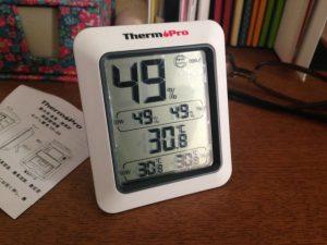 水温・気温を測る準備