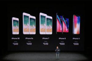 「iPhone8」と「iPhoneX」の違い