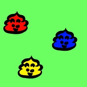 うんこ3つの画像