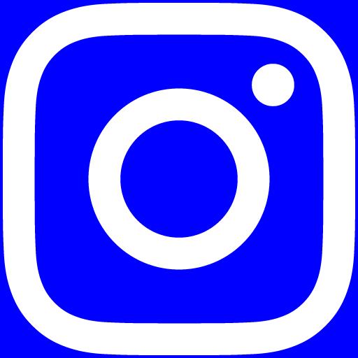 白インスタロゴ 背景色blue #0000FF