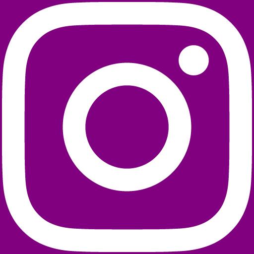 白インスタロゴ 背景色purple #800080