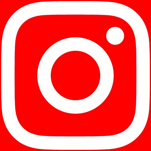 白インスタロゴ 背景色red #FF0000