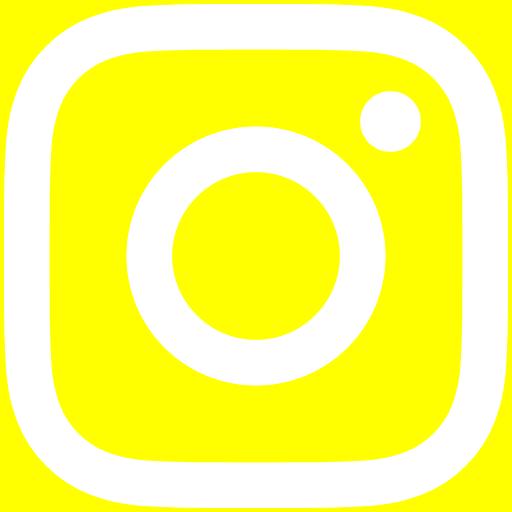 白インスタロゴ 背景色yellow