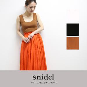 snidel(スナイデル) リネンコンビニットワンピース swno182049
