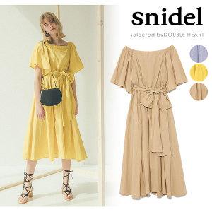 snidel(スナイデル)ウエストマークタフタミドルワンピース swfo182043