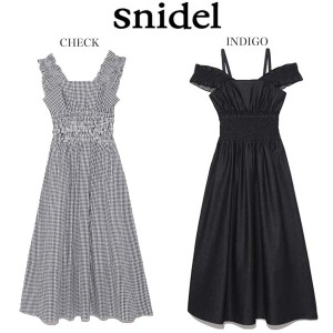 snidel(スナイデル)バリエーションウエストシャーリングワンピース