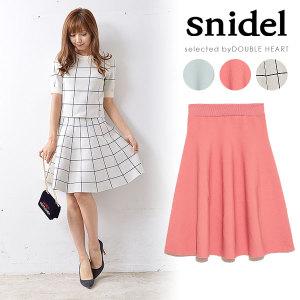 snidel(スナイデル)シルエットニットミニスカート