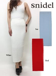 snidel(スナイデル)パターンニットタイトスカート