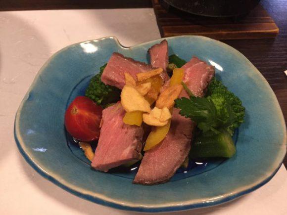 ローストビーフと季節野菜のサラダ 稲沢市 みたき 評判