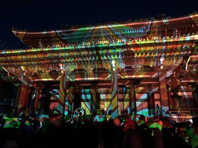 東別院の年末イベント「デジタル掛け軸」は和太鼓も楽しめる