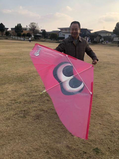 オジサンになっても凧揚げは楽しい!正月遊びは凧揚げで決まりだっ!