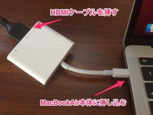 【挿すだけ簡単】mac book airで2台目のディスプレイ接続する方法−1