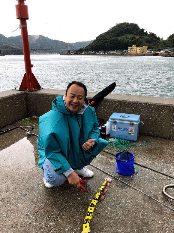 天草 樋島大橋近くの港で釣り。ガラカブが釣れた
