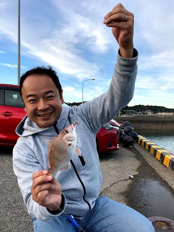 樋合新港 (上天草 )で鯛が釣れてテンション爆上がり