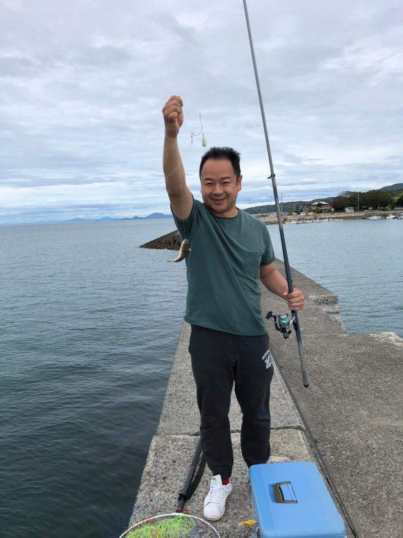 島子港で釣れたフグ(エサ取り)
